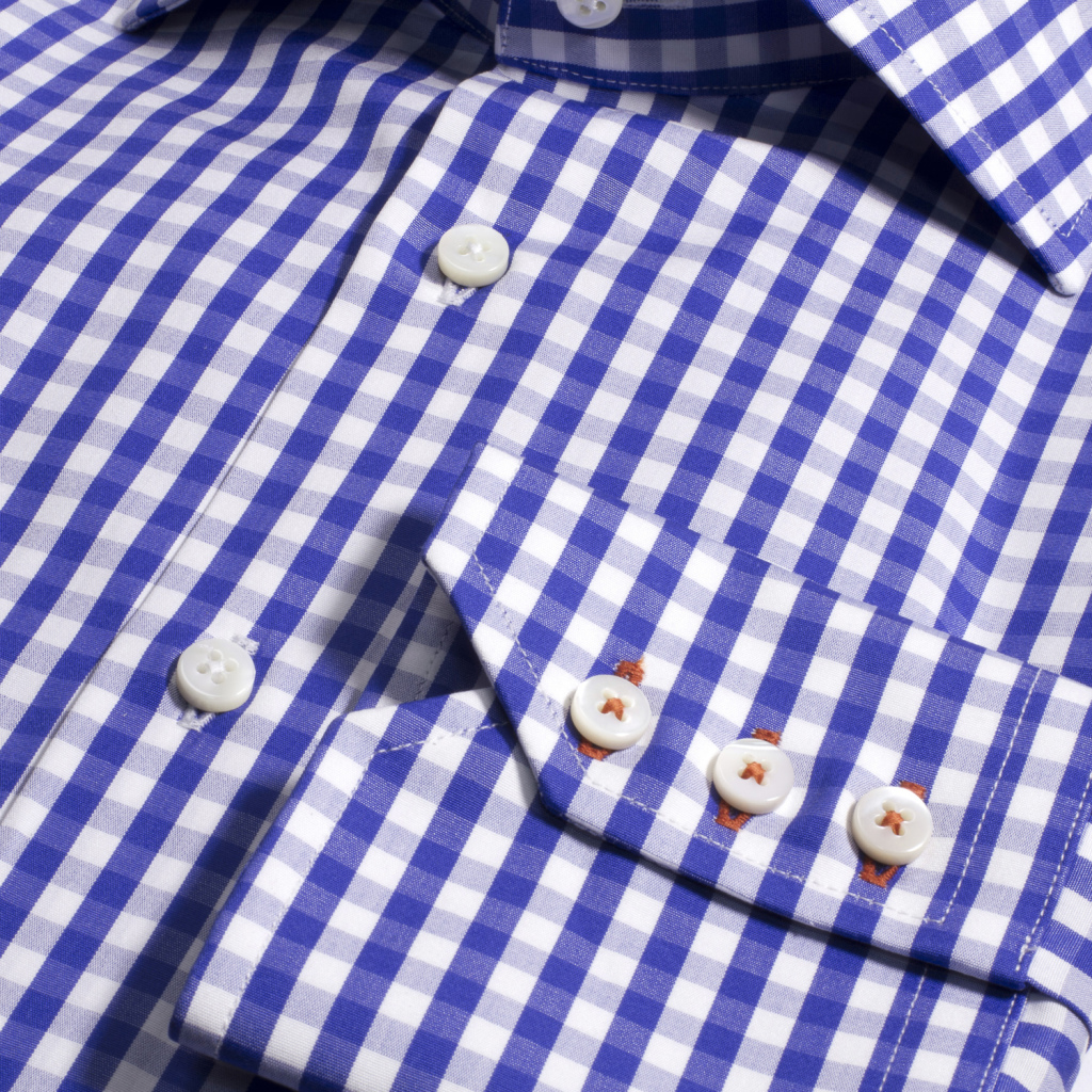 Imperial Black perfect shirt mens luxury blue gingham