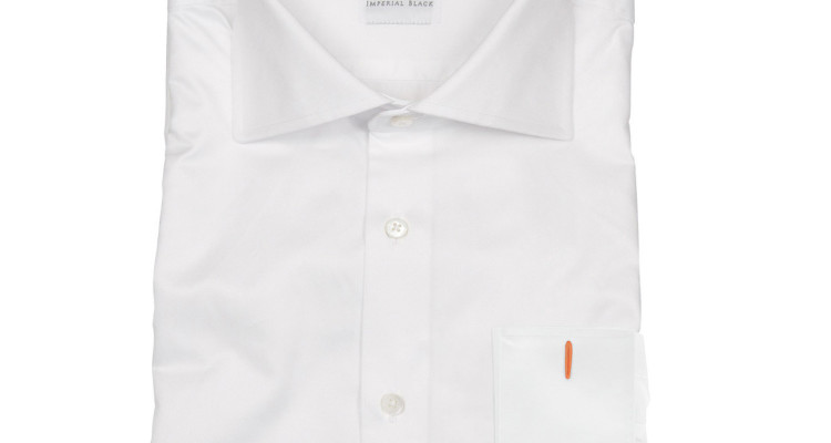 white luxury mens shirt Imperial Black