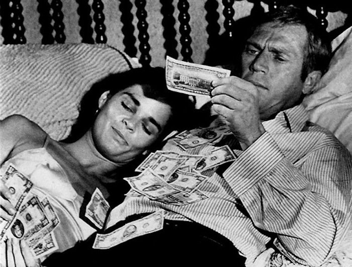 Ali Macgraw Steve Mcqueen the heist for Imperial Black Luxury clothing